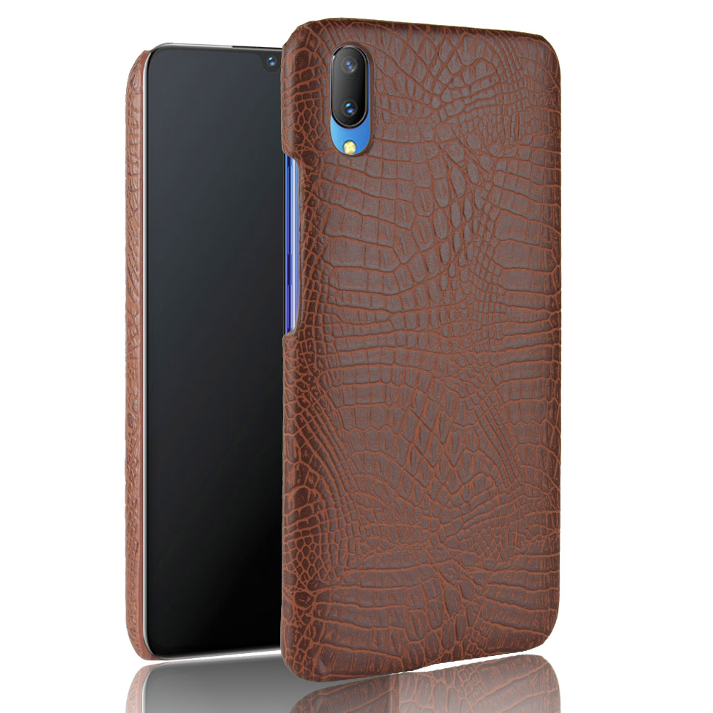For vivo Y93 Case vivo Y93s Retro Luxury PU Leather Crocodile Hard Skin Protective Back Cover For Vivo Y93 Y93 S Phone Bag Cases