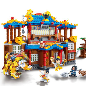 Image 3 - BanBao 中国風のカンフー寺チャイナ中国のドラゴン大砲アーキテクチャレンガ教育ビルディングブロックのおもちゃモデル