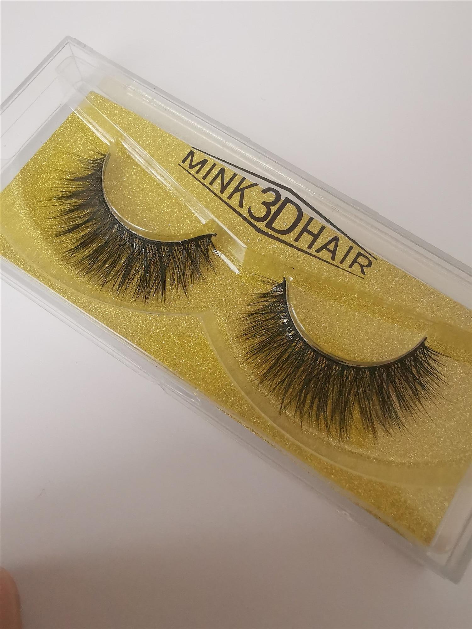 Meilleure vente Faux vison Extension de cils en gros en vrac vison 3D cheveux cils 3D vison cils vendeur - 2