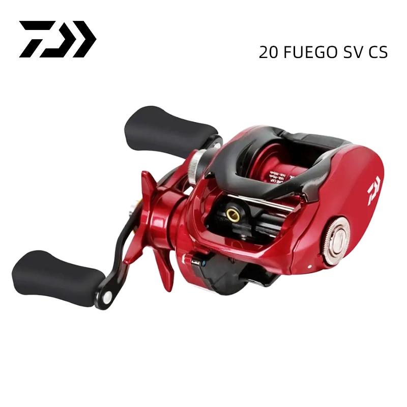 Рыболовная катушка DAIWA FUEGO SV, низкопрофильная катушка для заброса приманки, максимальное усилие фрикциона 5 кг, вес 5 + 1 шарикоподшипников, 2020 ...