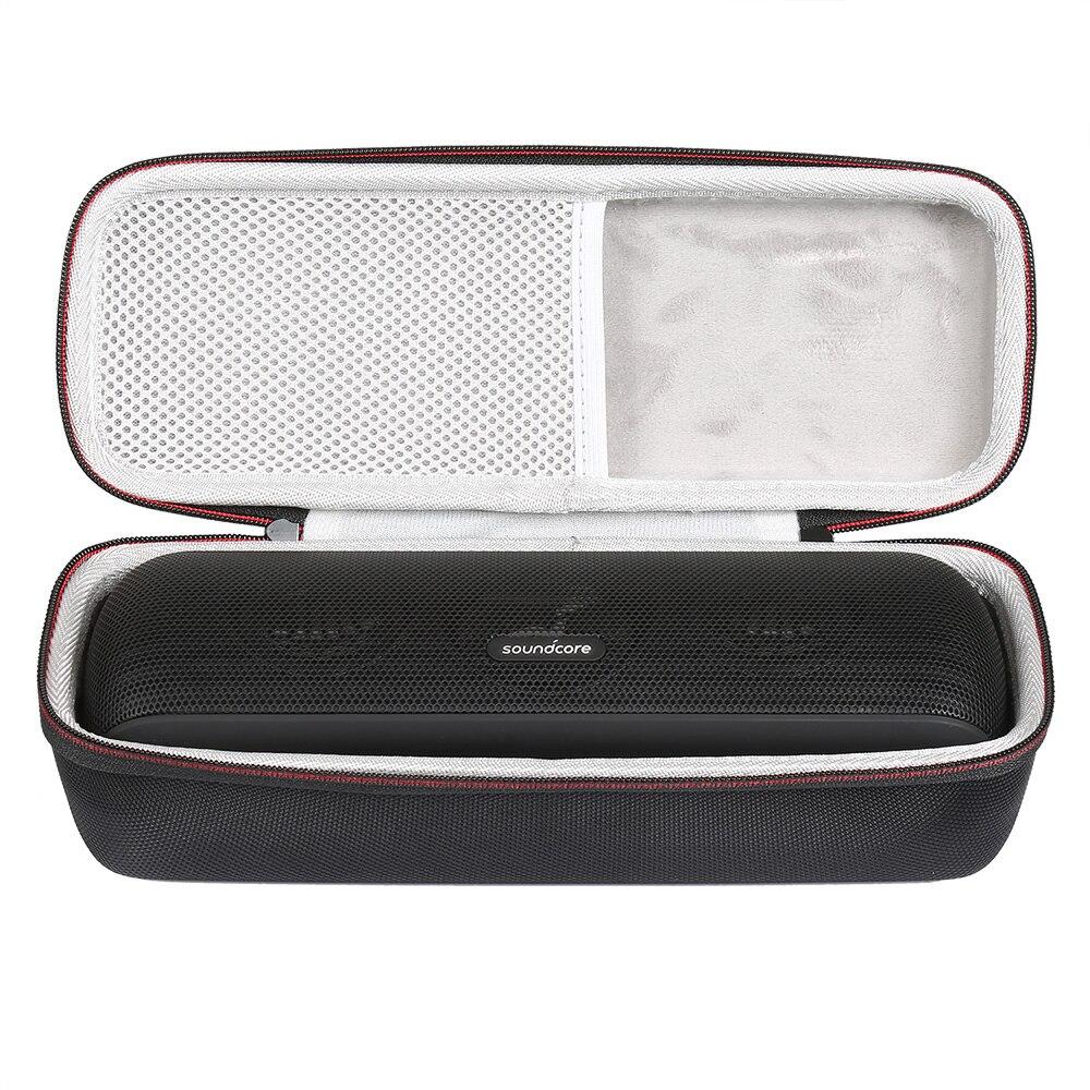 Hard EVA Protect Storage Case For Speaker Anker Soundcore Motion+/ Soundcore Motion B Portable Bag With Mesh Pocket-Black