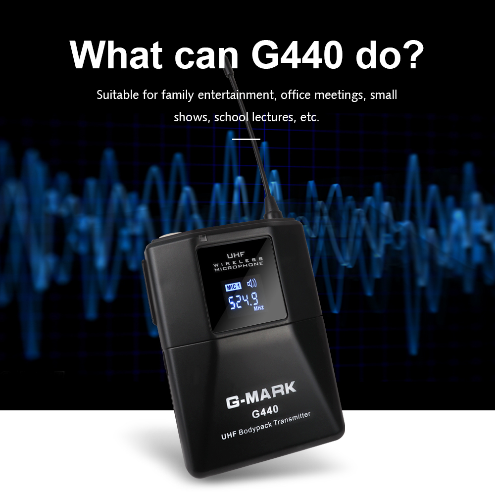 Image 3 - G MARK G440 Wireless Microphone transmitter 4 Channel UHF lavalier Mic for meeting Wedding Party Stage 50 metersMicrophones   -