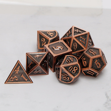 Metal Dnd Dice Sets Dungeons And Dragon D&D MTG RPG Polyhedral Role Playing Copper Dice Gift 7PCS D20 D12 D10 D8 D6 D4