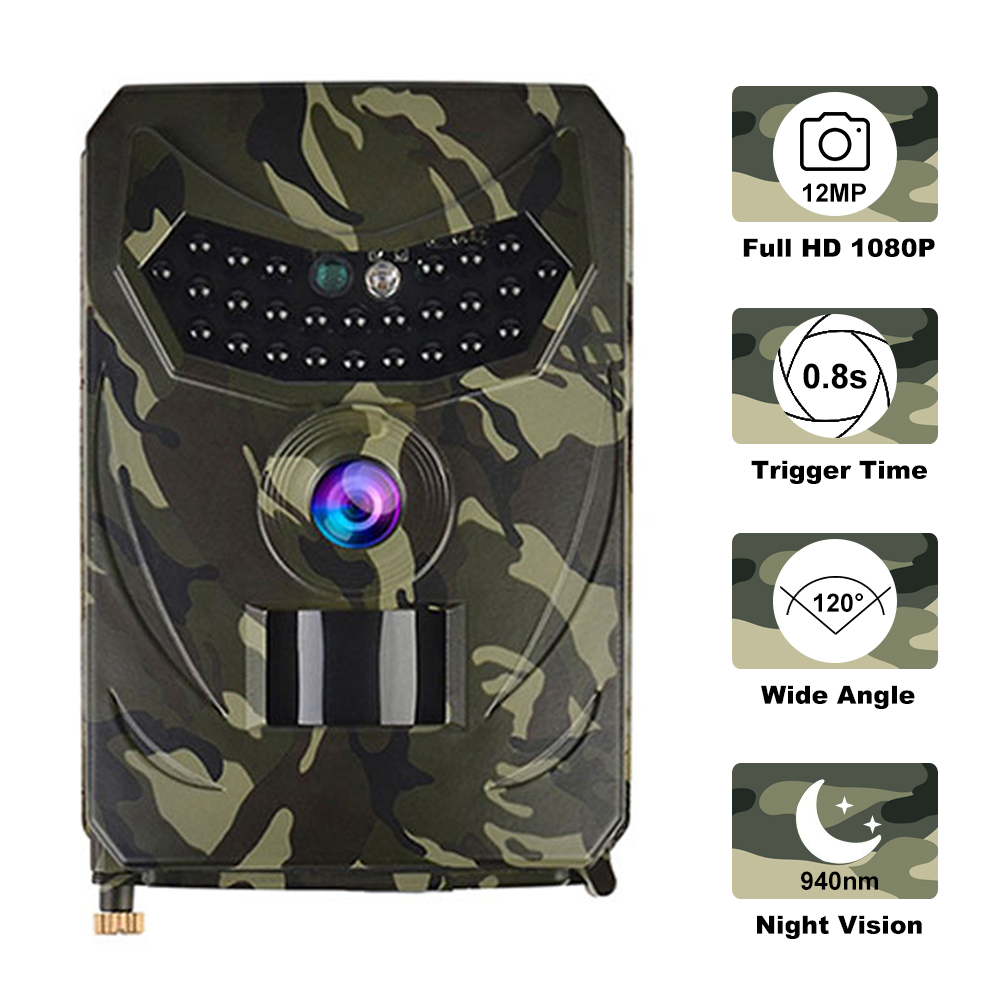 Hunting-Camera Night-Vision Outdoor 12MP 940nm Photo-120 Waterproof 1080P Degree-Angle