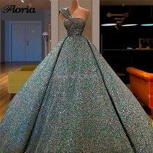 ตุรกีสินค้าใหม่อย่างเป็นทางการ Beading ชุดราตรี Vestido De Festa 2019 Abendkleider ดูไบพรหมชุดหนึ่งไหล่ Gowns