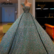 Turkish New Arrivals Formal Beading Evening Dresses Vestido De Festa 2019 Abendkleider Dubai Prom Dress One Shoulder Party Gowns
