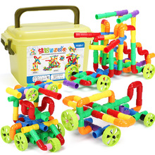 Marble Race Run Building Block Compatible Blocks With Wheel DIY Creative Bricks Educational Toys For Children Kids Gift
