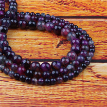 Purple Dragon Agate Natural Stone Bead Round Loose Spaced Beads 15 Inch Strand 4/6/8/10/12mm For Jewelry Making DIY Bracelet