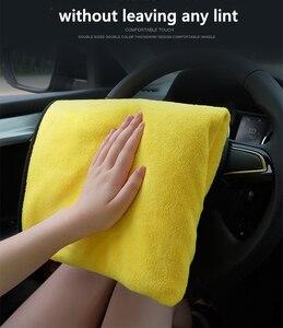 Image 5 - 1/3/5 Pcs Microfiber Car Cleaning Handdoek Micro Fiber Auto Wassen Handdoeken Extra Zachte Drogen Doek Auto Wassen Vodden auto Accessoires