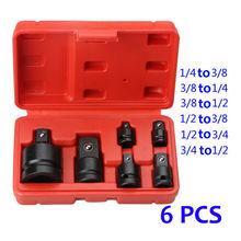 6Pcs Mini Socket Wrench Hand Tool Set 1/4 1/2 3/8 3/4 Ratchet Breaker Drive Spanner Set Pneumatic Sleeve Adapter Wrench