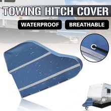 Universal Waterproof Caravan Trailer Towing Hitch Cover Tow Ball Coupling Lock Covers Dustproof For RV Motorhome(China)
