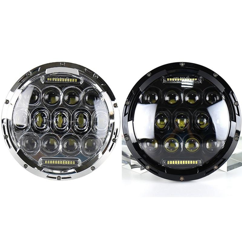 Автомобильный светодиодный светильник на голову 7 дюймов 75 Вт круглый светодиодный светильник на голову для внедорожных мотоциклов