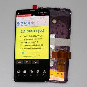 Image 3 - סופר AMOLED יש את לשרוף צל LCD עם מסגרת לסמסונג גלקסי S9 G960 S9 בתוספת G965 מגע מסך digitizer עצרת