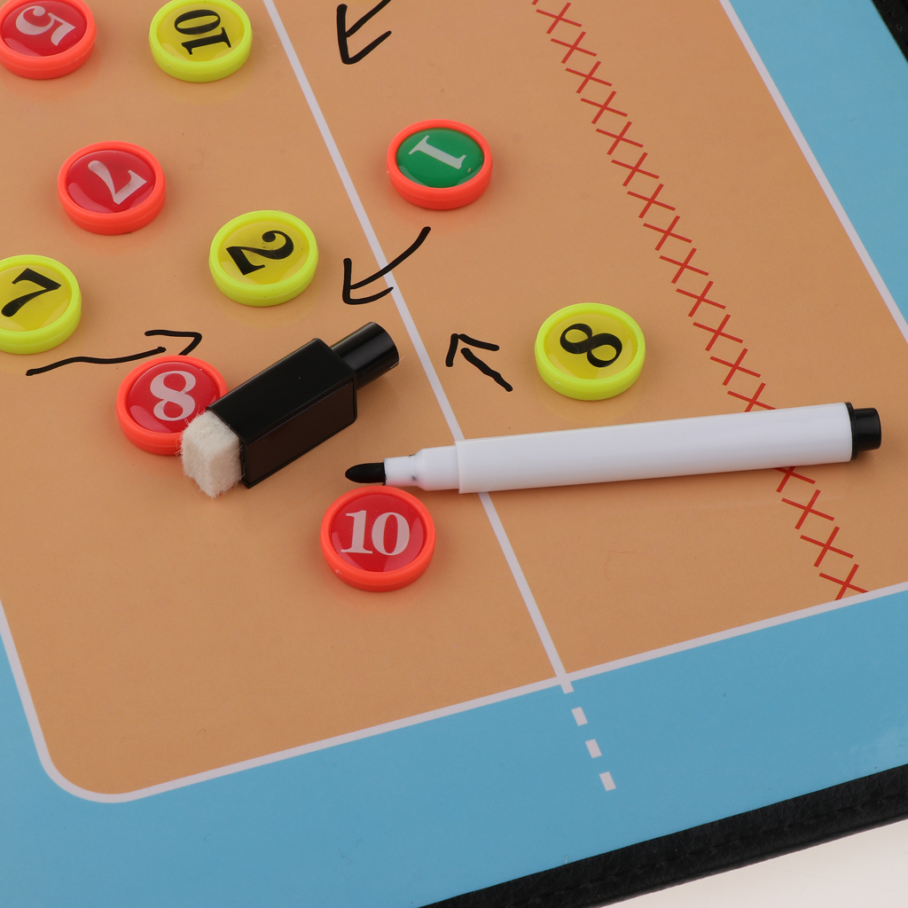 Coaches Board Volleyball Indispensable Aid Tool Double Sided Clipboard For Drawing Play Playbook