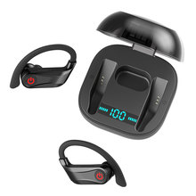 цена на HBQ Q62 Bluetooth Earphones 3D Stereo Noise Cancelling Sport Earphone Waterproof Headset in-Ear Built-in Mic with Charging Box