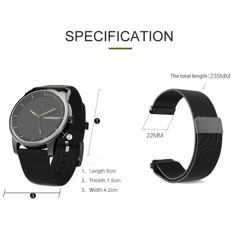 SEMVIS N20 upgraded version S68 round screen Bluetooth smart watch quartz movement watch IP68 waterproof