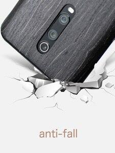 Image 4 - Naturalnie drewniane etui na telefon xiaomi 9T PRO, Redmi K20 Pro skrzynki pokrywa black ice drewno, orzech, palisander
