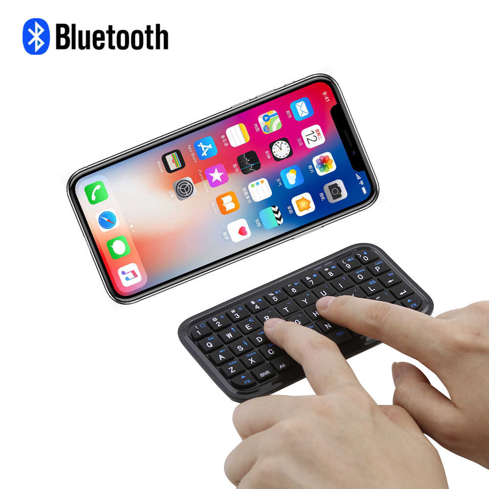 Black Mini Wireless Bluetooth Keyboard For Iphone 4.0/5.0 OS/ PCPDA/ Ipad/Samsung Android/Smart Phone/PC Mini Bluetooth Keyboard