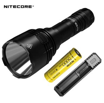 Nowy Nitecore nowy P30 Cree XP-L HI V3 1000 lumenów LED latarka + nitecore 21700 5000mah bateria + nitecore UI1 ładowarka tanie i dobre opinie KLARUS CN (pochodzenie) Reflektory