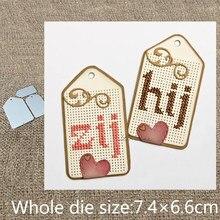Novo design de artesanato metal estêncil molde corte dados 3 pçs bordado decoração scrapbook morrer cortes álbum cartão papel artesanato gravação