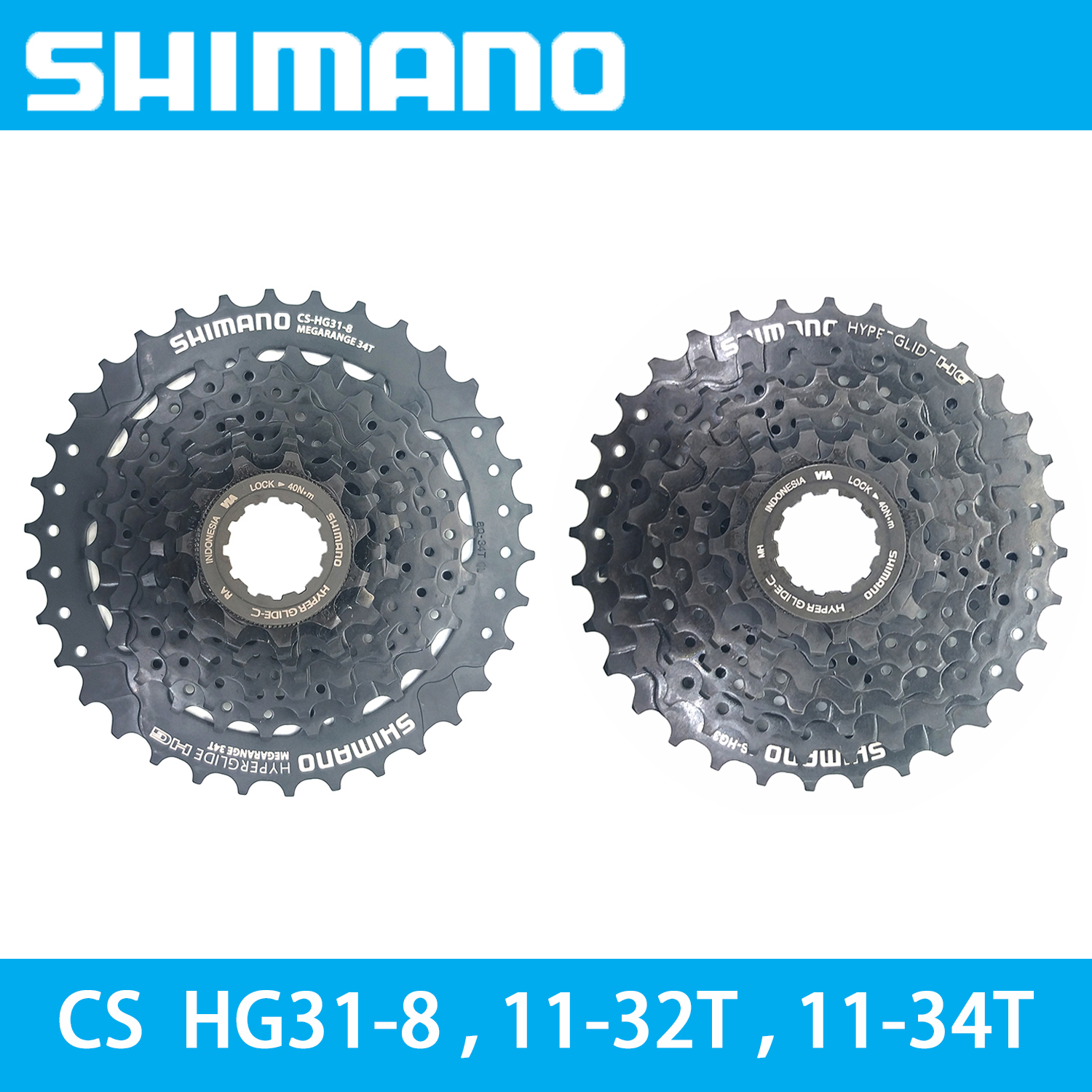 <font><b>Shimano</b></font> CS <font><b>HG31</b></font>-<font><b>8</b></font> <font><b>8</b></font> Speed 11-32T/11-34T MTB Mountain Bike Cassette 8S 32T 34T Bicycle flywheel bike accessories image