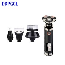цена на DDPGGL Men Multifunction Assurance Electric Shaver Private Facial 4D Waterproof Beard Trimmer Quality Assurance Charging Mode