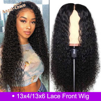 Angel Grace Mongolian Kinky Curly Remy Human Hair Wig 13*4 /13*6 Glueless Lace Front Human Hair Wigs Pre Plucked With Baby Hair - DISCOUNT ITEM  44% OFF All Category