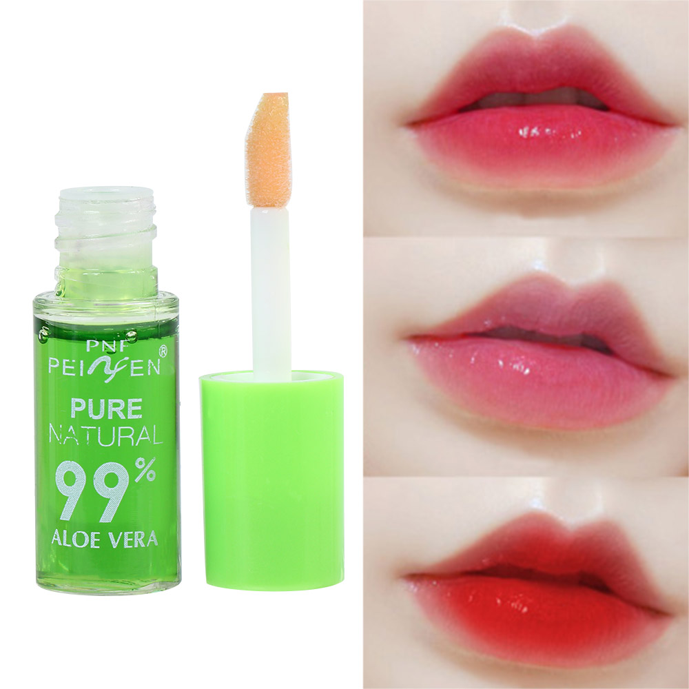Aloe Lip gloss Lips Makeup Moisturizer Nutritious Liquid Lipstick Aloe Vera Plant Transparent Color Changing Lip Tint Baby Lips image