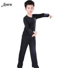 Nowy latynoski kostium do tańca towarzyskiego koszula spodnie chłopcy nowoczesna sala balowa Tango Rumba Samba Dancewear Latin Dancing Competition Clothes