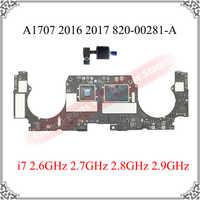 Placa base para Macbook Pro 16GB A1707 Original, 2016, 2017, 2,6 GHz, 2,7 GHz, 2,8 GHz, 820-00281-A, 2,9 GHz, A1707, probado, OK