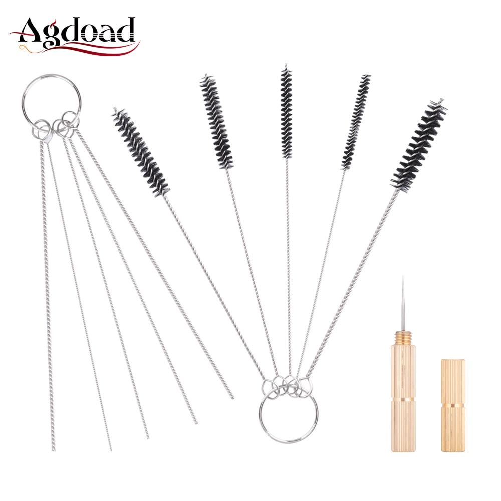 11Pcs/Set Airbrush Spray Gun Cleaning Repair Tool Kit Nozzle Stainless Steel Needle Brush Set Beauty Equipment Accessories