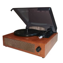 Draagbare Speaker Retro Fonograaf Grammofoon Vinyl Platenspeler Klassieke Draaitafel Afspelen Ingebouwde Stereo Speaker 33/45/78Rpm
