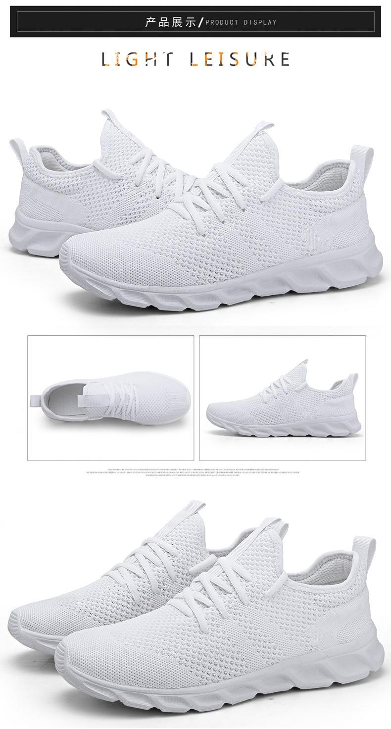 Ha357c9ef267047288893125b3f9c8c9ed Flyknit Men Shoes Light Sneakers Men Breathable Jogging Shoes for Men Rubber Tenis Masculino Adulto Plus 35 46 48