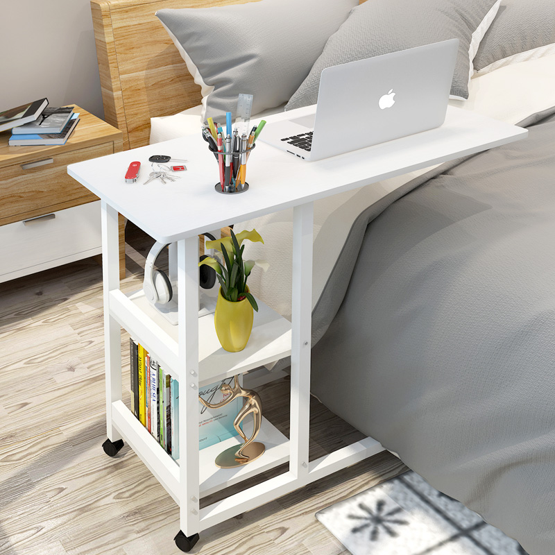 Laptop Lazy Bed With Elevating Table Computer Desk Simple Bedroom Small Desk Portable Bedside Table