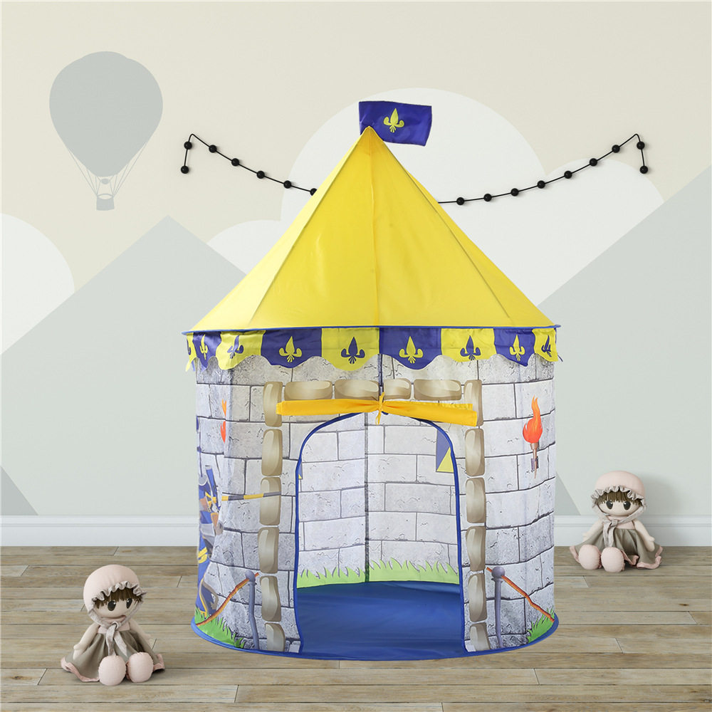 Ozhouzhan Hot Selling KID'S Tent Castle Knight Mongolian Yurt Toy House Oceans Ball Pool Baby Park