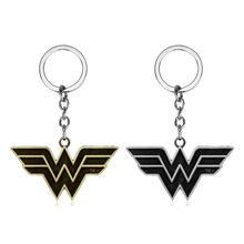 DC Comics Jewelry Superhero Wonder Woman Keychain Men Trinket Metal Pendant Key Chain Car Bags Ring