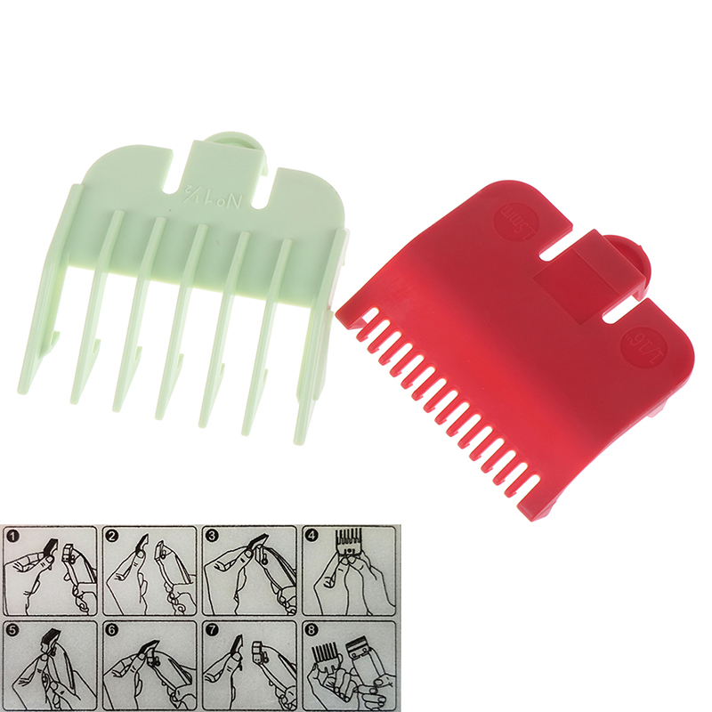 2Pcs/set Hair Clipper Guide Comb Beard Trimmer Comb Replacement Clipper Blade Cutter Hair Grooming Trimmer Head Shaver Comb