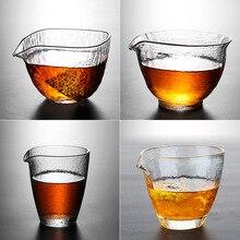Ручной работы стеклянный кувшин термостойкий толстый чай морская чайная посуда молоток прозрачная ярмарка чашка кунг-фу чайная церемония золотые стаканчики из фольги