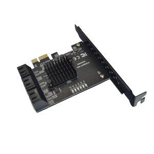 PCIE для SATA карты 6 портов SATA 3 PCI экспресс карта расширения PCI-E/PCIE SATA контроллер мультипликатор для SSD Synology ASM1166 чипов