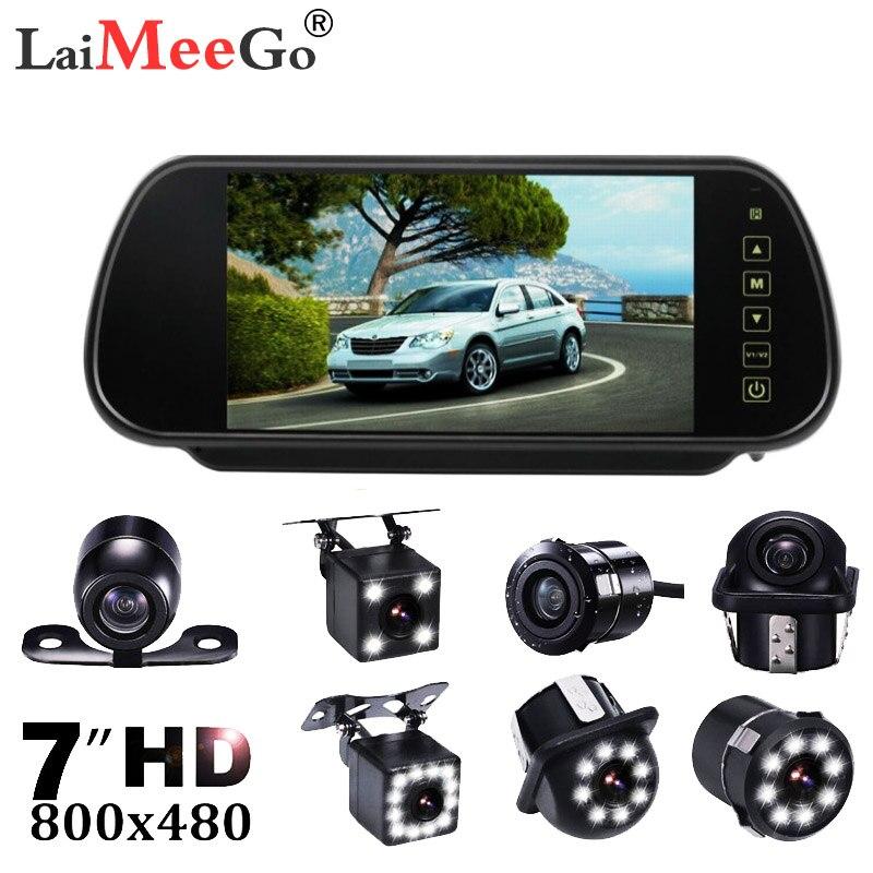 7 zoll TFT LCD Touch Screen Bluetooth Auto MP5 Player FM Transmitter Unterstützungs Kamera Auto Rückansicht Parkplatz Spiegel monitor