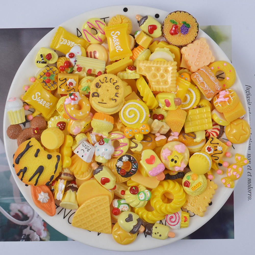 Diy Chocolate Charms For Slime Fake Candy Plasticine Slimes Filler Addition Accessories Children Toys Sprinkles Kit