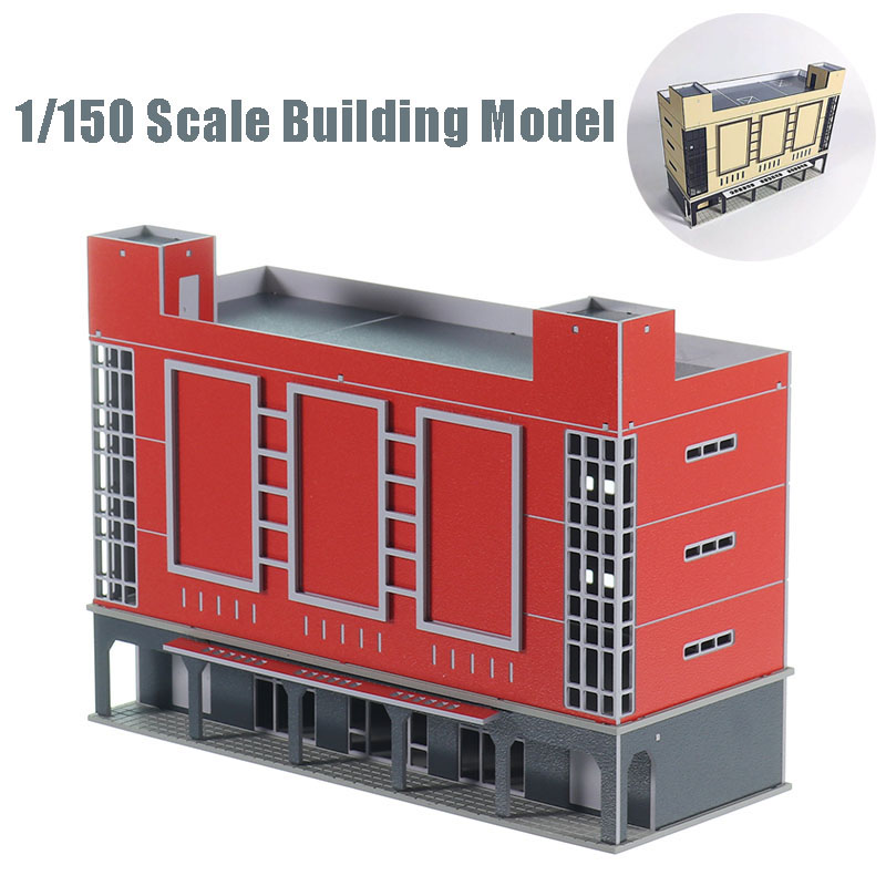 DIY 1/150 New Shopping Mall Cinema Modern Architecture Model Sand Table Plastic Assembly Model Building Kits Train Model N Scale image