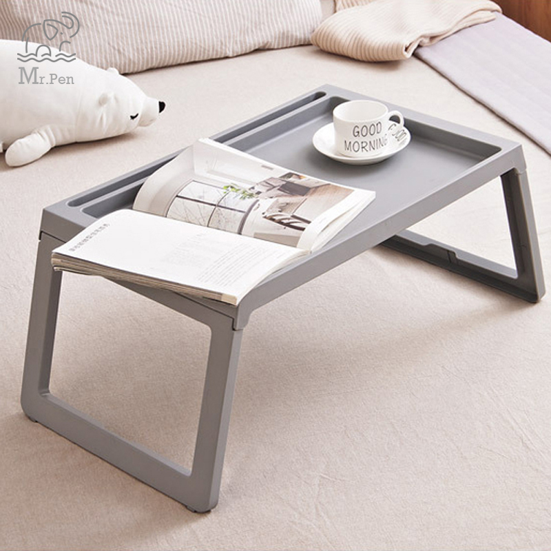 Creative Foldable Laptop Table Stand Office Computer Reading Study Table Notebook Bed Table Anti-Skid Table Stationery Holder