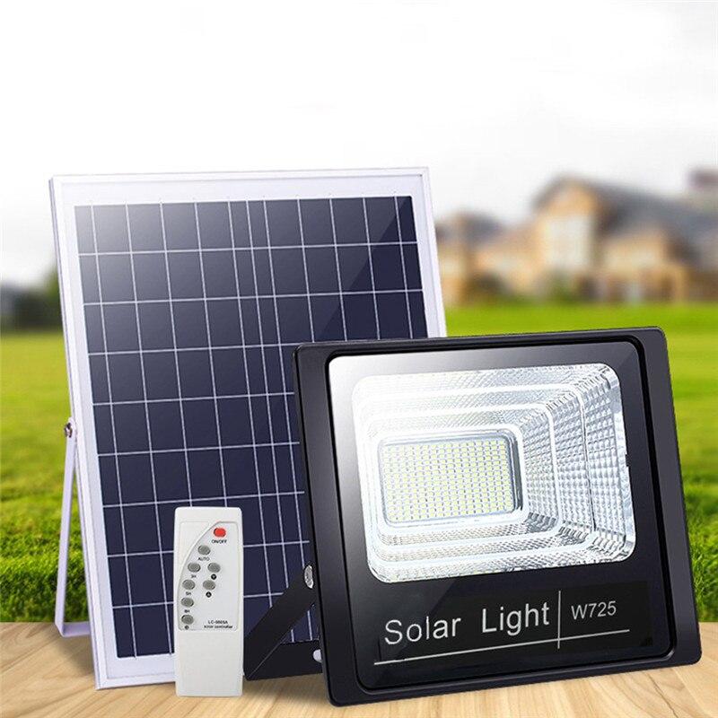 Lampe solaire de jardin extérieure 50 W, éclairage solaire de jardin en extérieur avec panneau 3 mètres, projecteur de jardin en câble, lampe solaire murale étanche pour l'éclairage de la pelouse en plein air