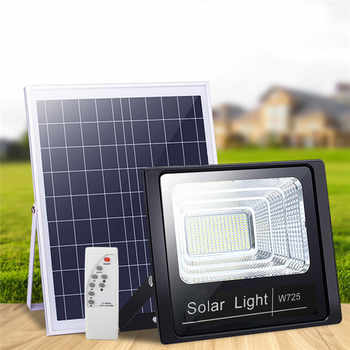 Luz Solar de jardín para exteriores de 50W con Panel de 3 metros, reflector de jardín, lámpara Solar impermeable para iluminación de césped exterior