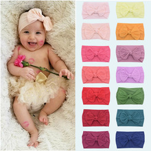 Baby Headband Hair-Accessories Photo-Props Shower Girl Boy No Turban Knotted-Bow Gifts