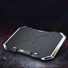 SeenDa Q8 Notebook Cooler Pad 6 Fans 7 Levels Adjustable Laptop Stand  Liquid Crystal Screen 2 USB Ports Cooler