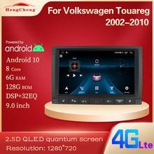 Автомагнитола для Volkswagen Touareg GP 2002-2010, мультимедийный видеоплеер для Volkswagen Vw Touareg, GPS-навигация, версия Android 10 4G
