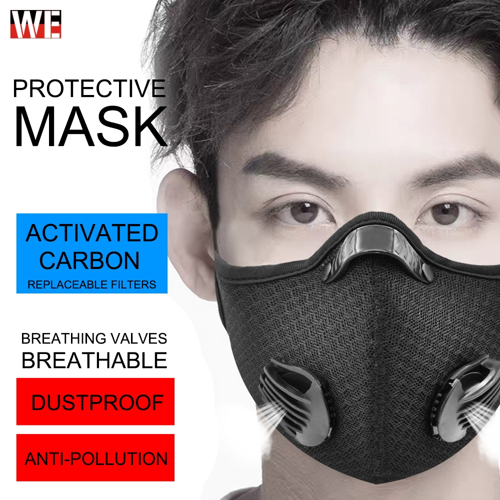 WOSAWE Motorcycle Mask Dust And Fog Protection Breathing Anti Pollution Activated PM2.5 With Activated Carbon Filter Face Mask