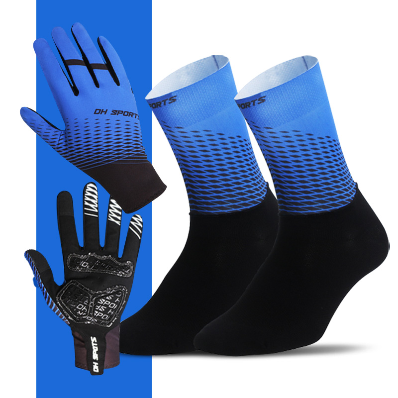 New Full Finger Cycling Gloves With Socks Sport Shockproof Anti Slip MTB Touch Screen Bicycle Gloves Men Women Bike Gloves
